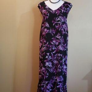 Catherine's Purple & Black Maxi 26/28